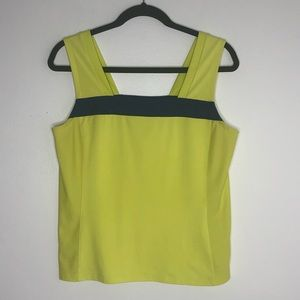 Tail yellow & blue athletic tank top, size M